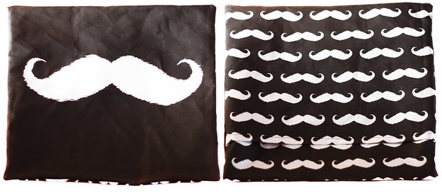"Mustache pillow cases 18 x 18"" tutorial"