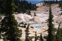 Bumpus Hell, hydrothermal valley in Lassen Volcanic National Park in California
