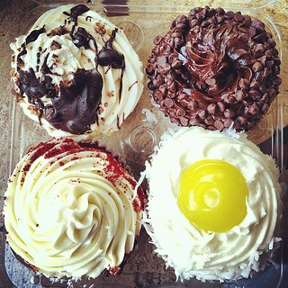 Gigantic gourmet #cupcakes from Fresh Market. #foodie