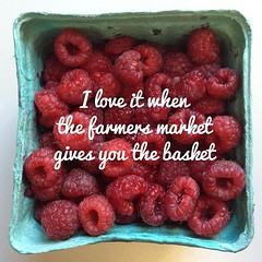 I love it when the farmers market gives you the basket