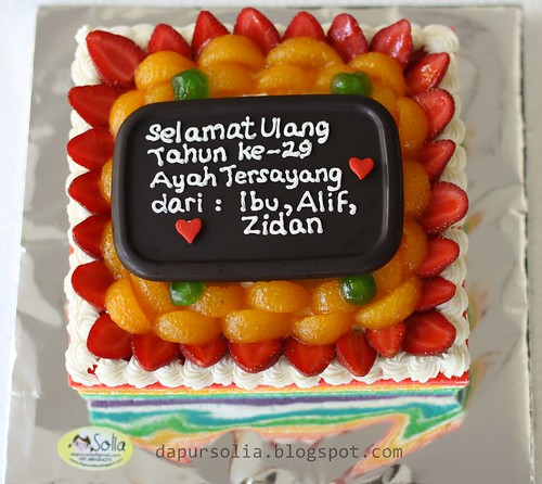 Rainbow Cake Mr. Bayu