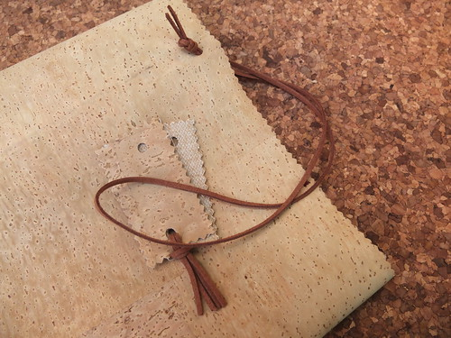 Very easy to make - cork fabric bookmarker