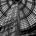 Melbourne shot tower bw
