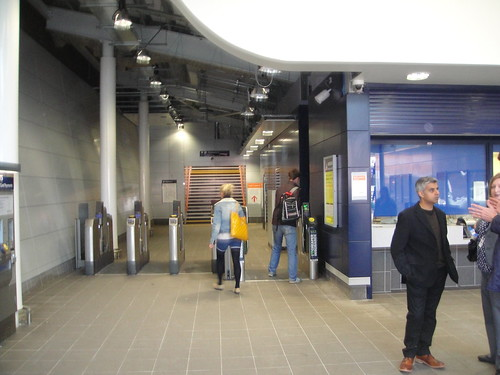 The new ticket hall at Earlsfield Station