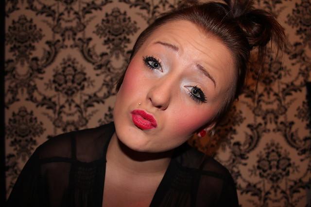 Cake face makeup