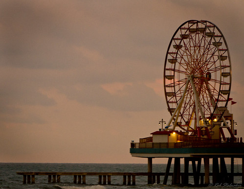 sunset galveston beach fun pier surf texas dusk tide ngc ferriswheel amusementpark