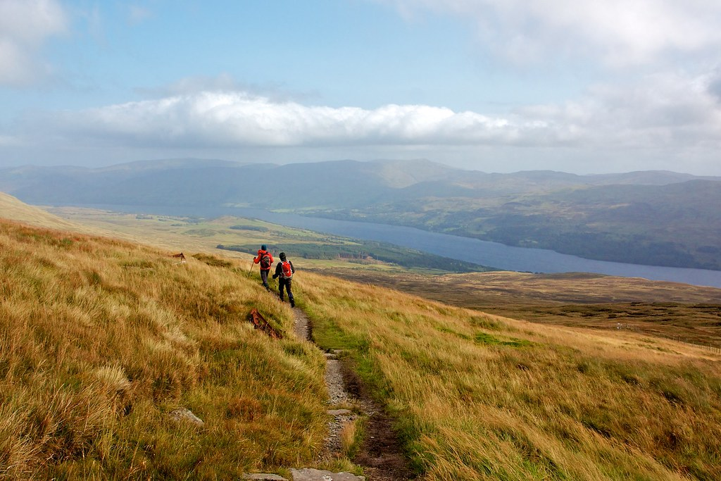 The track above Loch Tay