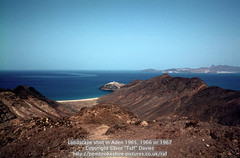 Landscape shot in Aden 1965, 1966 or 1967