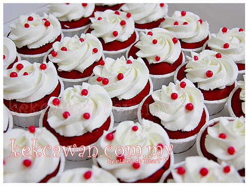 Red Velvet with Cream Cheese Cupcakes