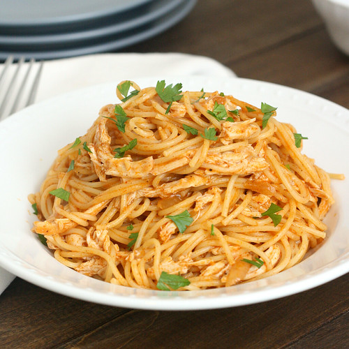 Chicken Enchilada Spaghetti