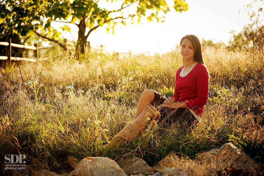 senior portraits with horse Shawnee Mission Park