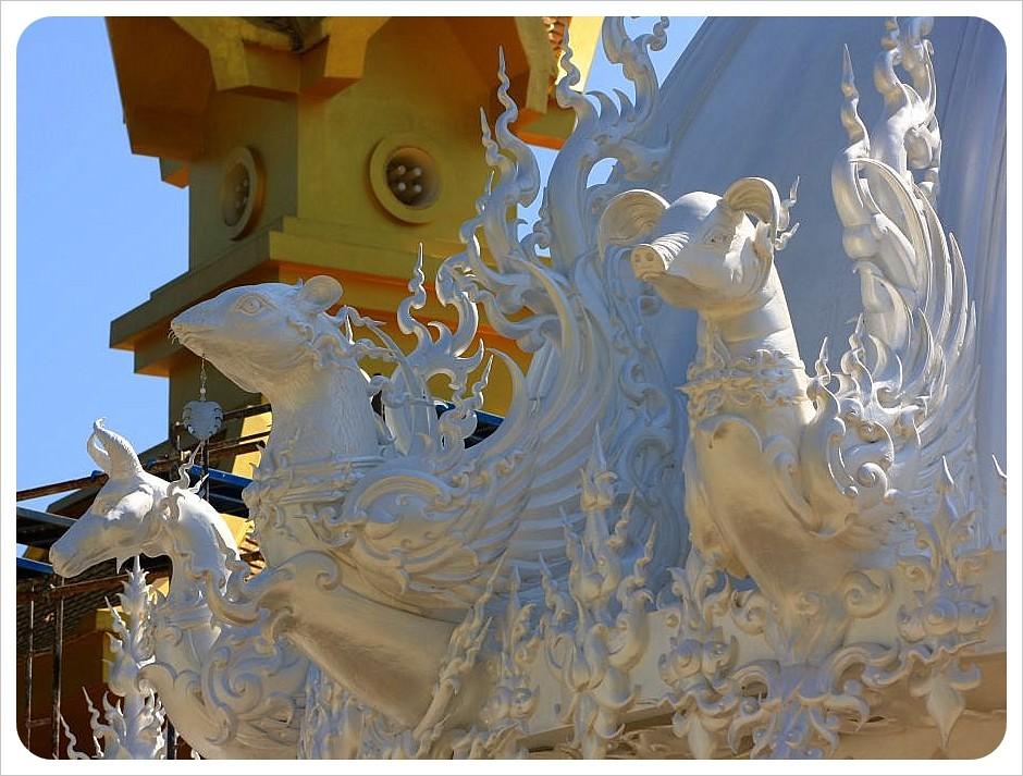 white temple rats