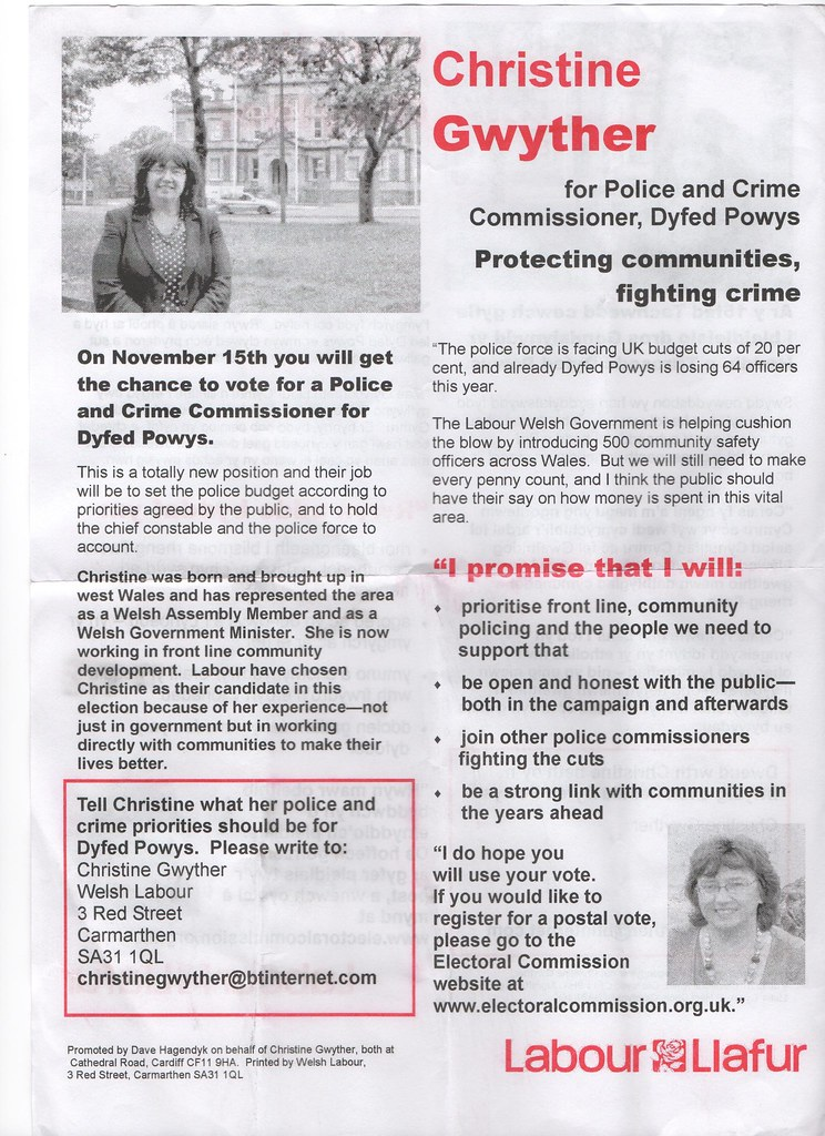september police leaflet