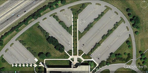 parking lot, Dublin OH (via Google Earth)