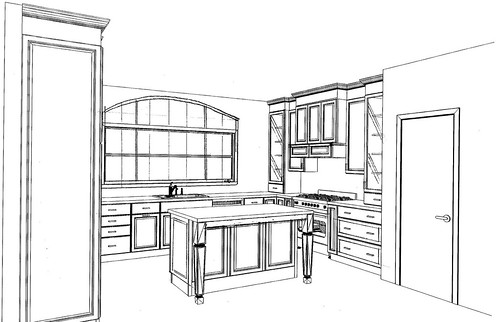 kitchen plan 1 - side view 2