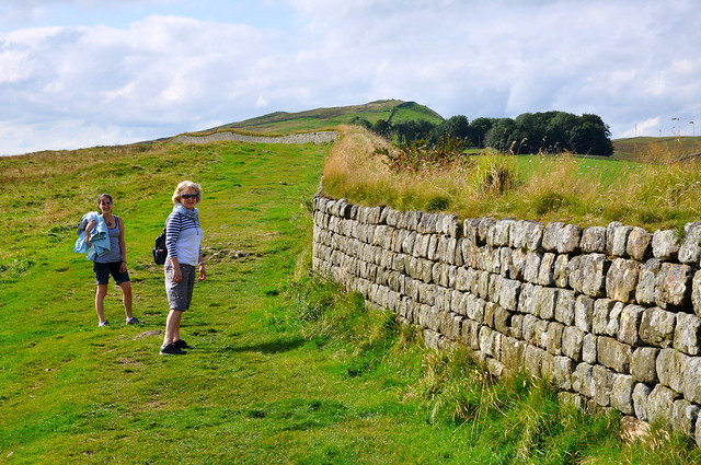 Walking alongside Hadrian's Wall