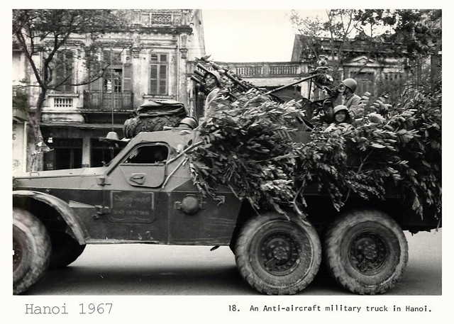 1967 Soldiers in Anti-Aircraft Truck in Hanoi