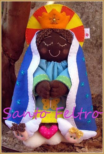 Nossa Senhora Estilizada versão negra by edilmarasantiago