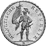 Zurich. Double doubloon of 32 francs, 1800 obverse