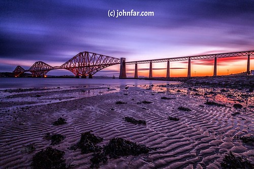 color colour sunrise scotland edinburgh colours bridges streetscene brave queensferry northqueensferry forthrailbridge networkrail bridgerail scottishlandscape lovelycolors fifescotland lovelycolours dramaticshot forthsea johnfarnanforthrailbridgefife