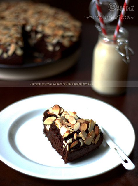 Mexican Chocolate Cake ( vegan) with Almonds