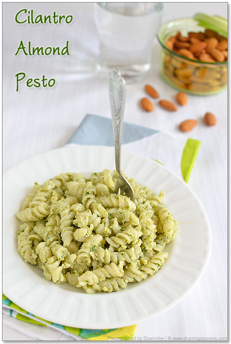 Cilantro Almond Pesto Recipe