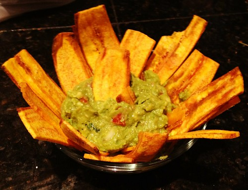 Plantains & guacamole, take out from Mexico Cantina y Cocina in Seattle by AmberinSeattle