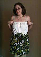 Shirt-to-Mini-Dress Refashion - Idea