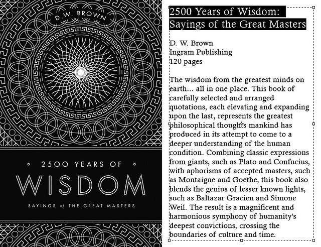 2500 Years Of Wisdom.