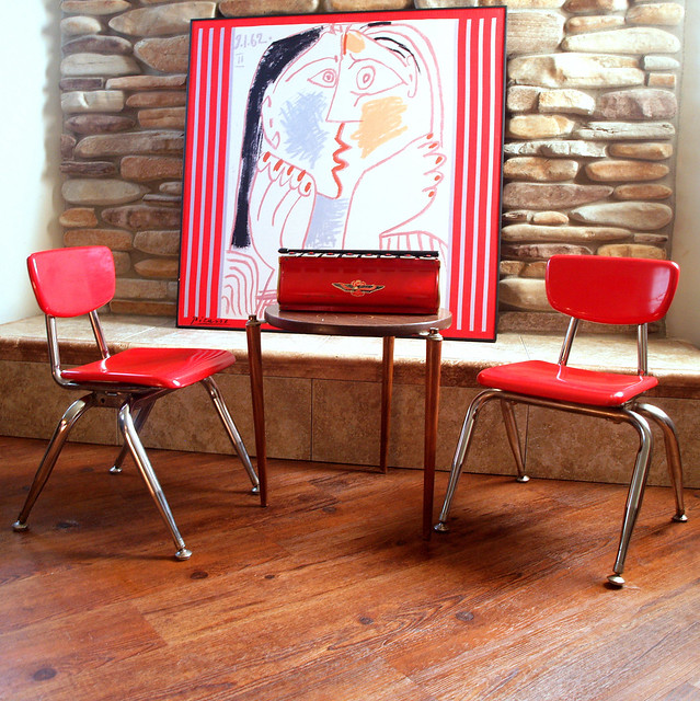 Modern Preschool Classroom Furniture : A is for apple red vintage preschool classroom childs