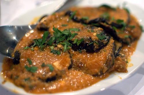 Eggplant saganaki