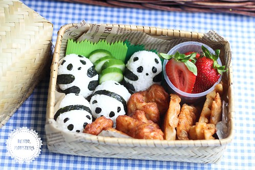 baby panda picnic bento bento monsters. Black Bedroom Furniture Sets. Home Design Ideas
