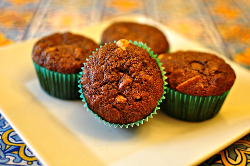 Loaded Triple Chocolate Banana Muffins