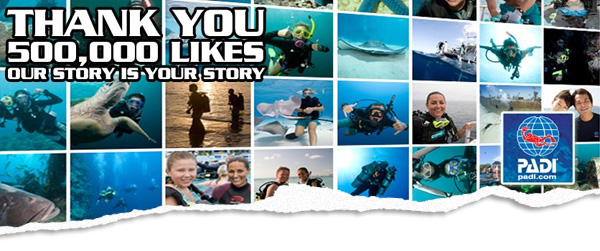 500,000 fans on the PADI Facebook page
