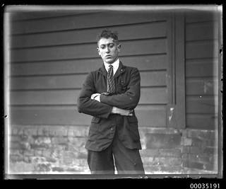 Injured man at Fort Macquarie after GREYCLIFFE disaster, 3 November 1927