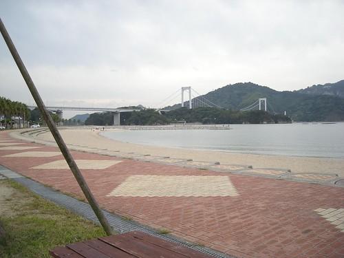 3 伯方橋から見えたビーチ