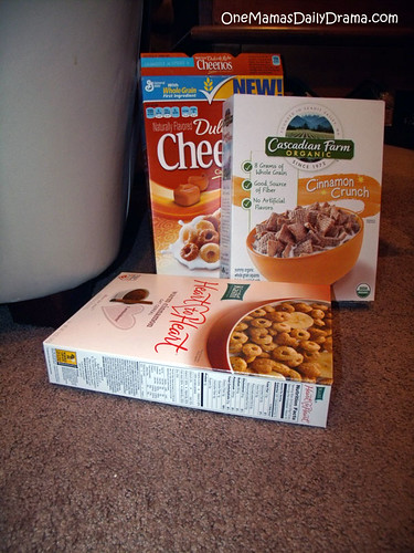 empty cereal boxes