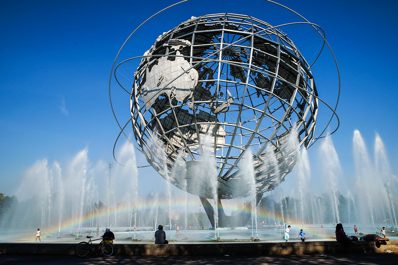 Unisphere with rainbow
