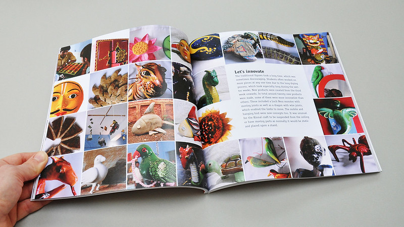 Photo of Kinnal Book spread of the new products created