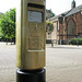 Gold Postbox, London