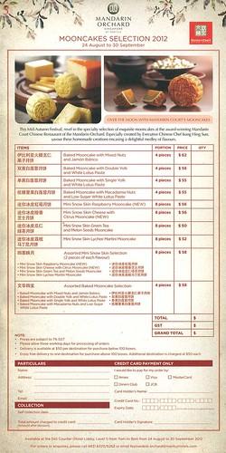 Mandarin Orchard Mooncake Order Form 2012