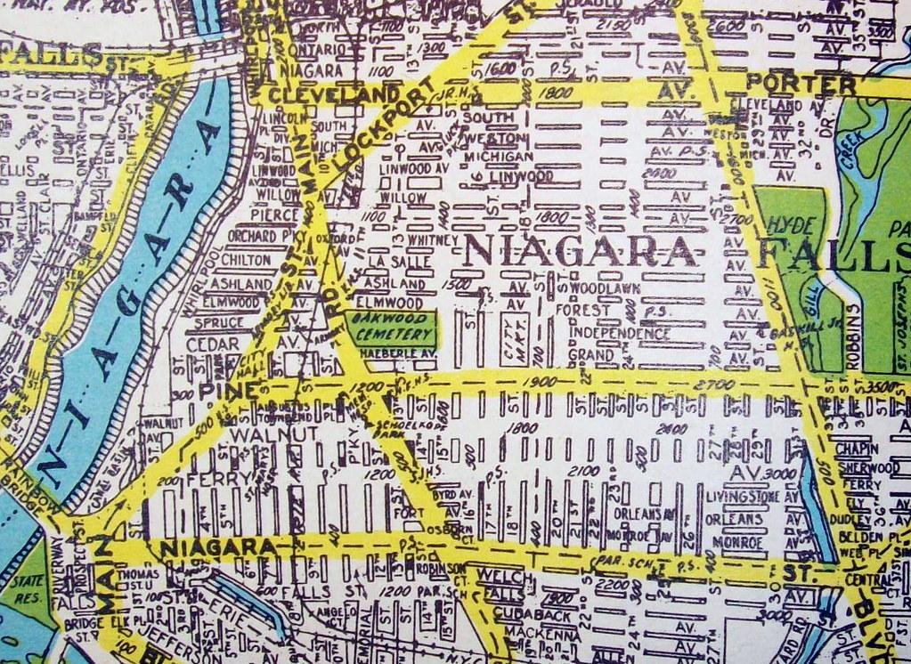 Niagara Falls Ny 1945 Map By Geographia Maps Flickr