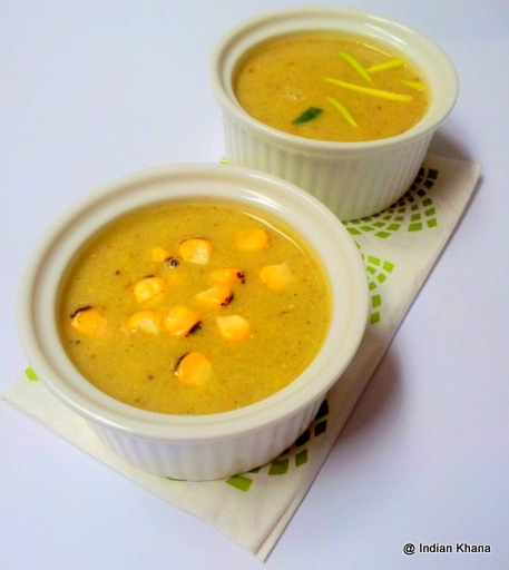 Roasted Corn Capsicum Soup