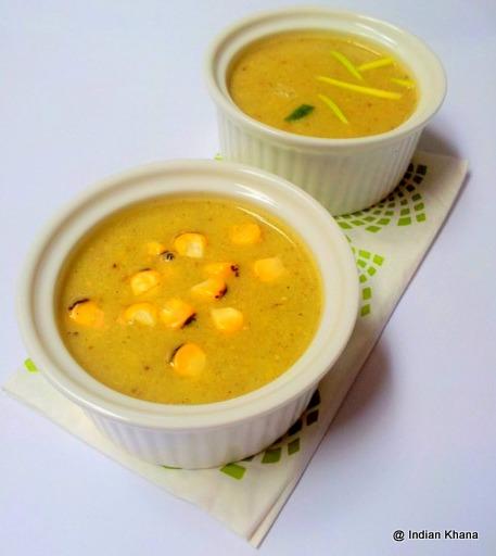 Roasted Corn Capsicum Soup
