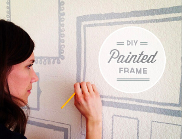 diy painted wall frame