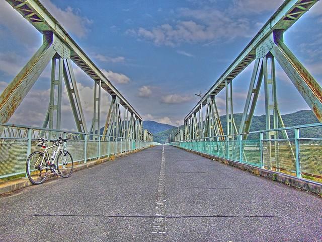 川辺橋にて