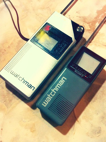 1982 Sony Watchman (the first model) & 1986 model