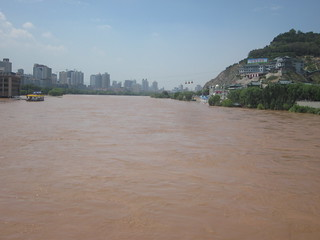 Attēls no Zhongshan Bridge pie Laņdžou. china prc lanzhou yellowriver gansu 甘肃 zhongshanbridge 兰州 黄河 中山桥