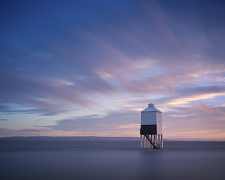 Low Lighthouse at Sunset
