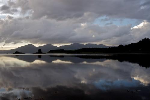 Loch Laich twilight, looking towards Castle Stalker